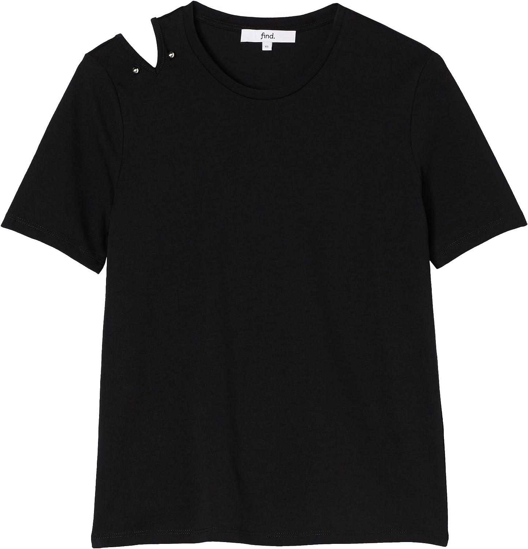 Marca find Camiseta con Cuello Redondo Mujer