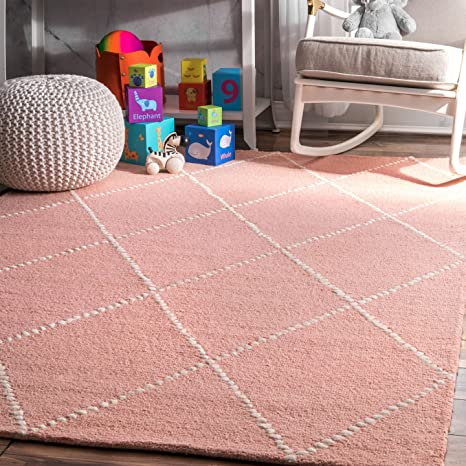 Amazon.com: Hand Tufted Wool Dotted Diamond Trellis Area Rug ...