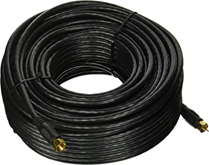 3-100FT F-Type RG6 18AWG Gold Plate Coaxial Cord Digital Cable Satellite TV RG-6