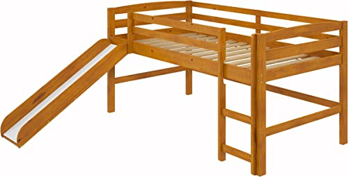 Woodcrest Mini Slide Loft Bed