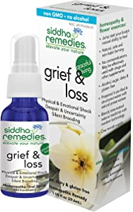 Siddha Remedies Grief & Loss Spray for Sadness Despair Depression Melancholy | 100% Natural Homeopathic Remedy with Cell Salts and Flower Essences | No Alcohol | No Sugar