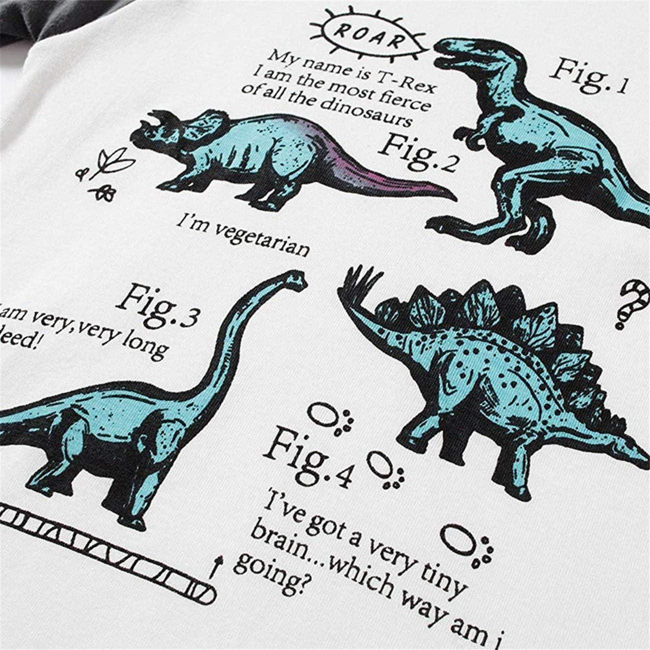 HCFKJ Ropa Bebe Ni/ñA Invierno Ni/ñO Manga Larga Camisetas BEB Conjuntos Moda Beb/é Ni/ñOs Ni/ñAs De Manga Larga Dinosaurio Tops Pantalones Pijamas Traje De Dormir