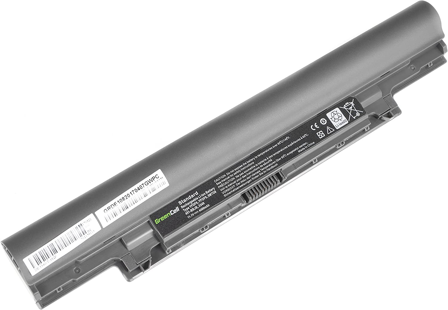 Green Cell/® Standard Series H4PJP YFDF9 JR6XC Battery for Dell Latitude 3340 E3340 P47G Laptop 6 Cells 4400mAh 11.1V