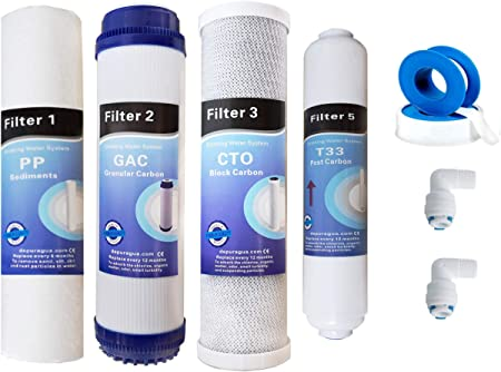 Juego 4 filtros osmosis inversa: Amazon.es: Hogar