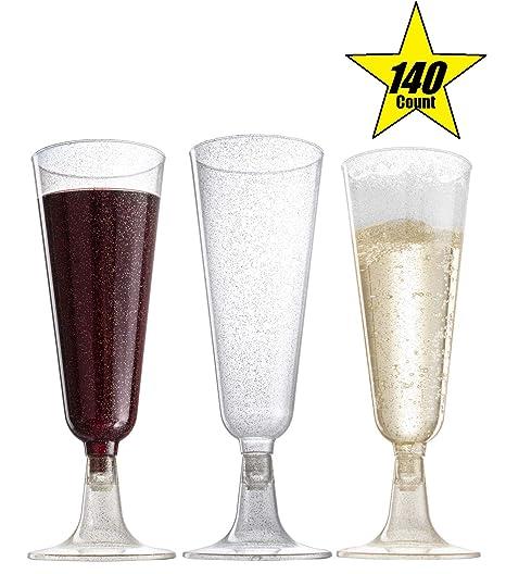 Amazon.com: 140pc Classicware de vidrio plástico y purpurina ...