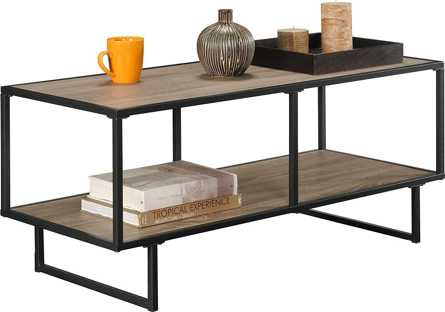 Amazon ameriwood home emmett tv standcoffee table for tvs up amazon ameriwood home emmett tv standcoffee table for tvs up to 42 wide weathered oak kitchen dining geotapseo Images