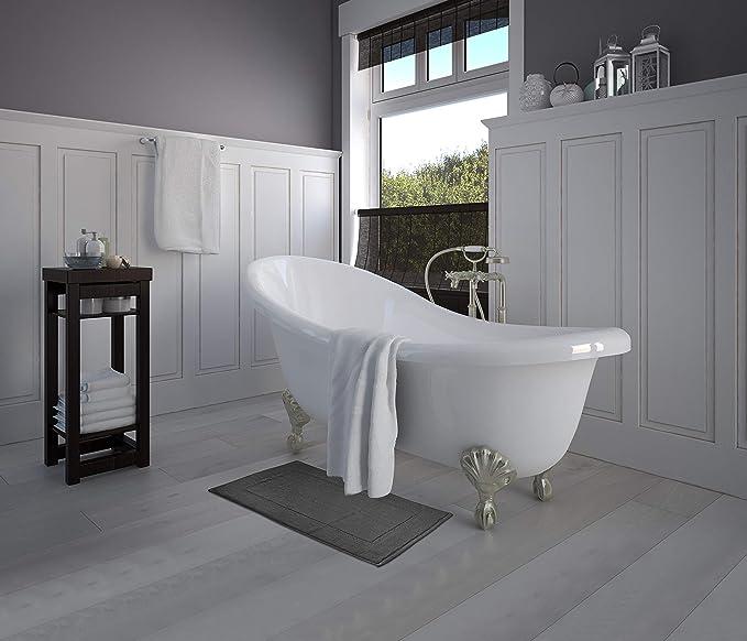 Utopia Towels Cotton Banded Bath Mats