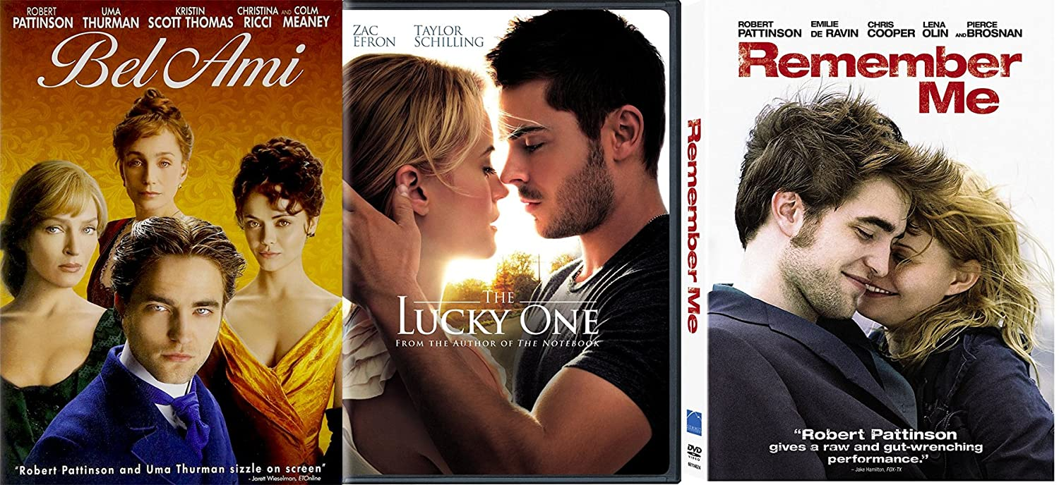 Triple Romance Movies With Robert Pattinson Zac Efron Remember Me Bel Ami The Lucky One 3 Dvd Bundle Movies Tv