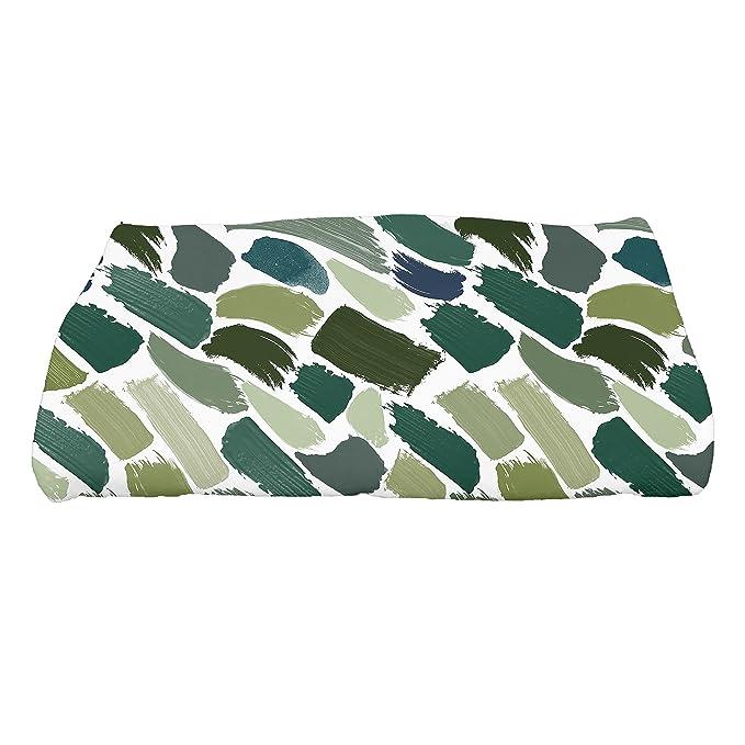 Geometric Print Bath Towel 28 x 58 Green E by design TG864GR37 Tufted