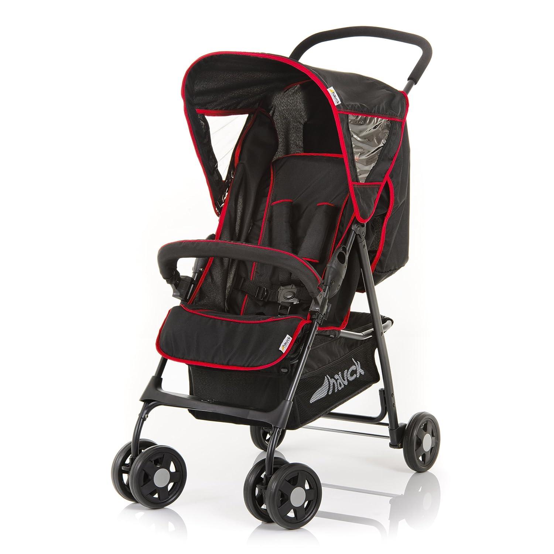 Hauck 171066 Malibu M 12 - Silla de paseo, color negro y rojo