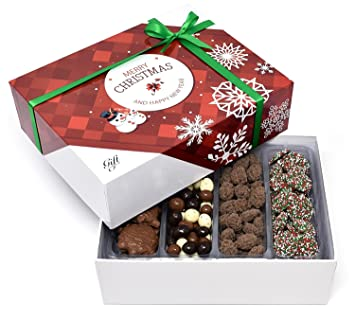 gift universe christmas gift box with tri colored coffee beans nonpareils christmas dark