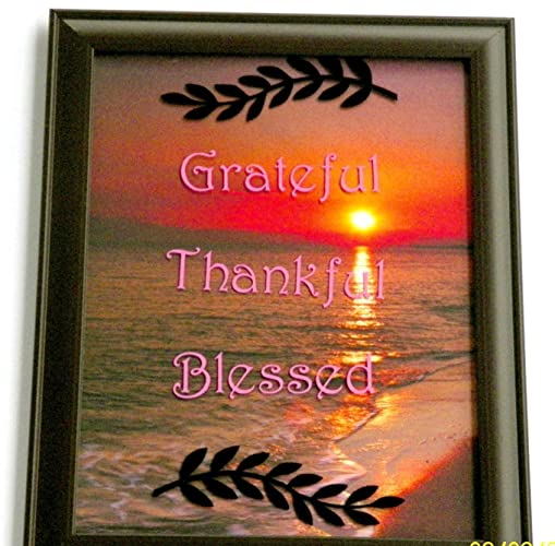 Amazon.com: Grateful Thankful Blessed photo frame 5x7in: Handmade