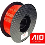 AIO Robotics Red PLA 3D Printer Filament, Dimensional Accuracy +/- 0.02 mm, 1.75 mm, 1.0 kg Spool