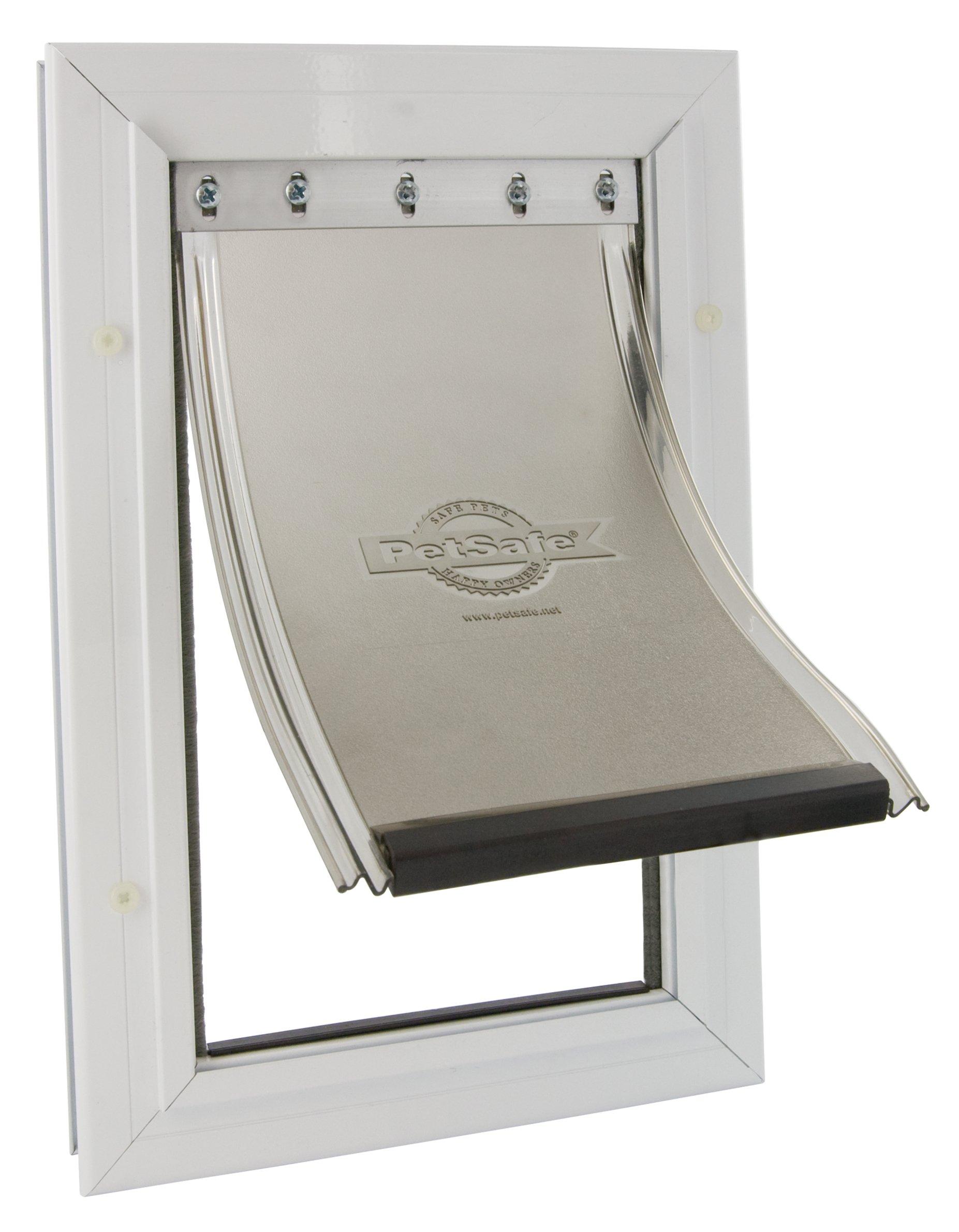(Staywell) Aluminium Heavy Duty Pet Door (Large) (White) (640EFS)