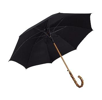 51c2b5bbddd6f UK Designed-Balios Prestige Walking Stick Umbrella-Bamboo Handle-Double  Canopy (Jet