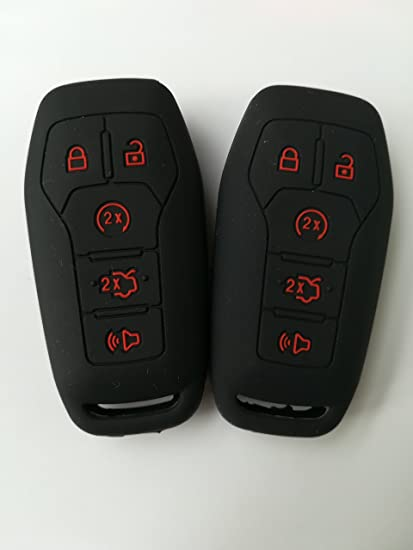 2pcs Night Glow Key Cover for 2013-2016 FORD Mustang Fusion Explorer F-150 Edge