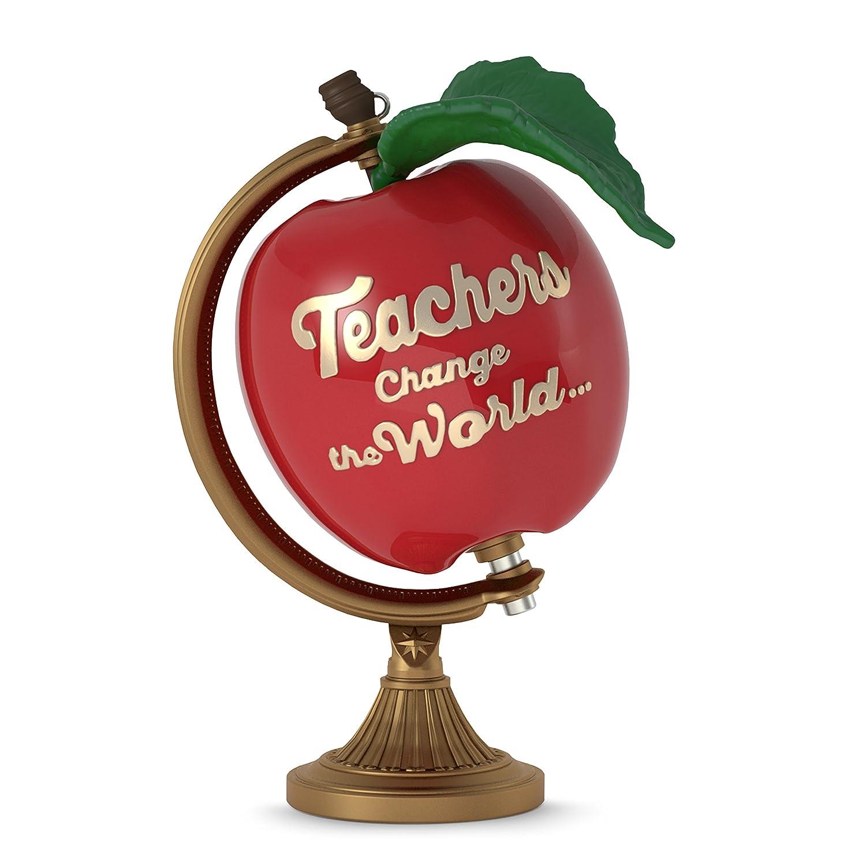 Hallmark Keepsake 2017 Teachers Change the World Apple Globe Christmas Ornament