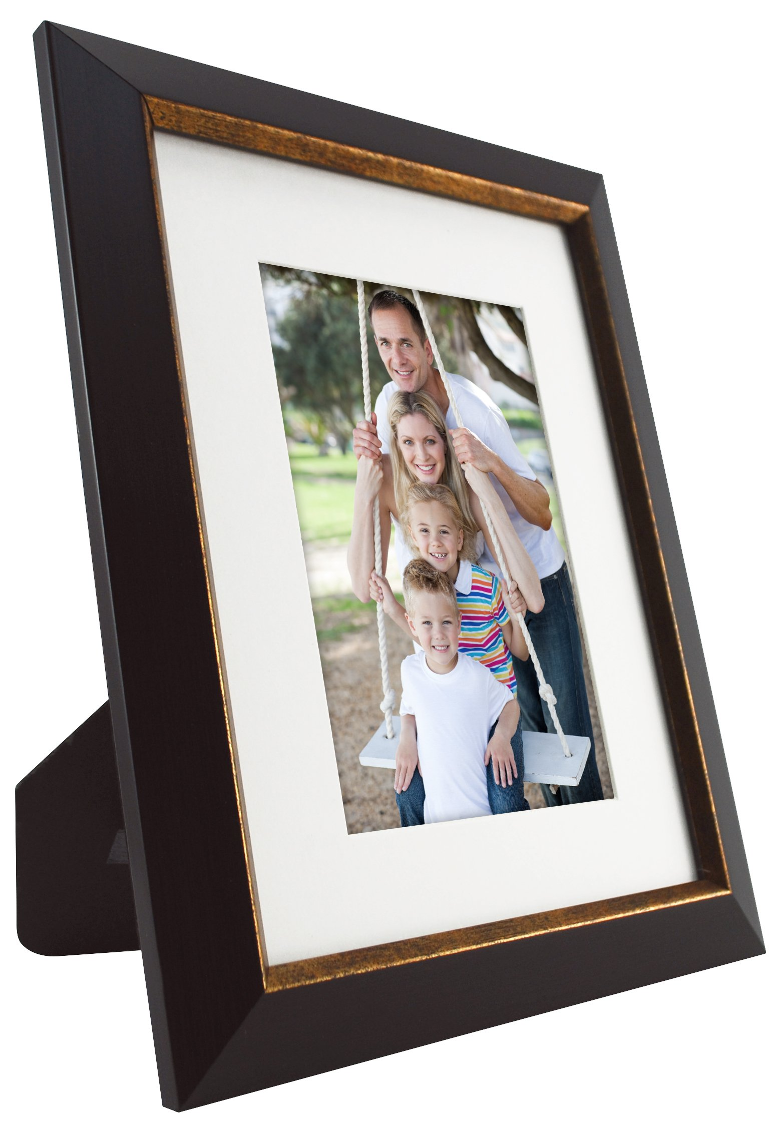 MCS  9pc Frame Set with Usable Artwork, Bronze Finish (49983) - Frame Sizes include 1-8x10 with mat to fit 5x7 photo, 2-6x8 with mats to fit 4x6 photos, 1-5x7 with mat to fit 3.5x5 photo, 3-4x6, 2-4x4 All frames have easels for table top Display and hangers for wall hanging Frames have a dark Bronze Finish With an antique bronze interior border - picture-frames, bedroom-decor, bedroom - 81eM3eHT9gL -