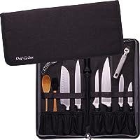 Premium Chef Knife Folder Case Organizer Bag | Portable Travel Storage - 8 Knives Tools Holder PLUS Honing Rod Slot…