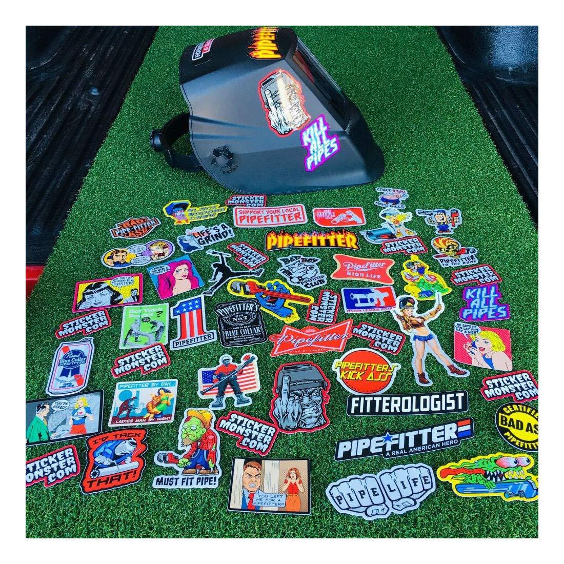 Pipefitter Welder (40) Hard Hat Stickers Hardhat Sticker & Decals, Welding Hood- Sold by Mike's Garage Sale Today! by Unknown