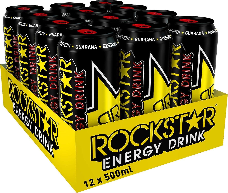 Rockstar Energy 500Ml, Bebida Energética - Pack de 12