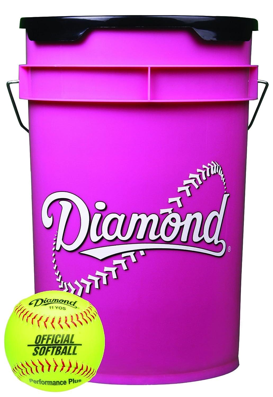 ダイヤモンド 6ガロン ピンクボールバケツ 18 11YOS 11インチ イエローソフトボール