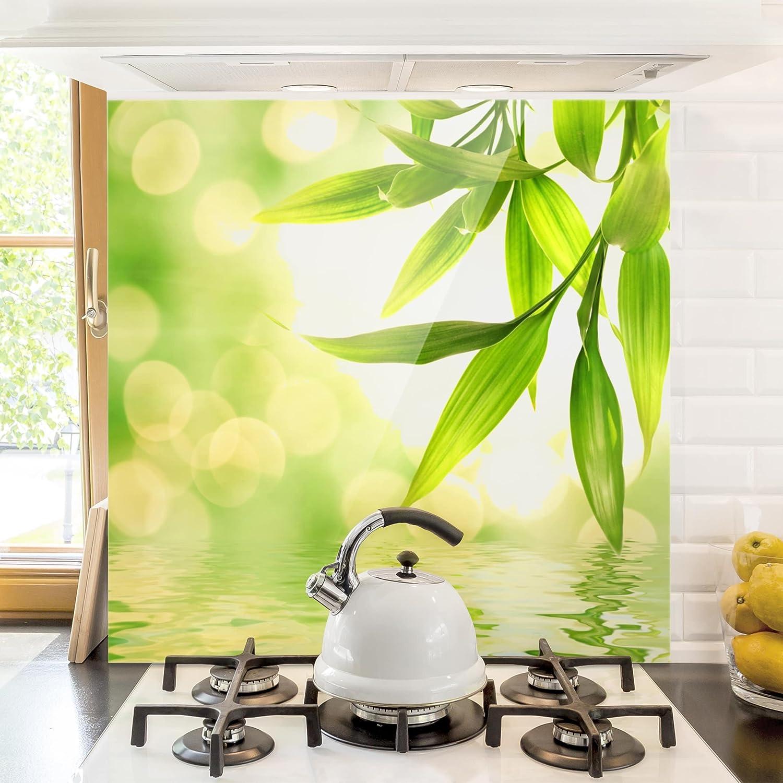 Bilderwelten Spritzschutz Glas - Green Ambiance I - Quadrat 1:1 ...