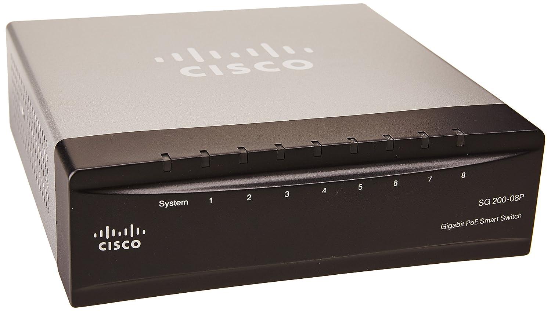 Sg 200-08p 8port Gigabit Poe Smart Switch Cisco - Temp Promo 2 SLM2008PT-NA Switches & Hubs