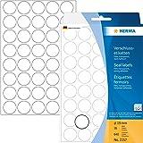 Herma 2257 Verschlussetiketten (Ø 19 mm, rund extrem stark haftend Folie matt) 640 Stück transparent