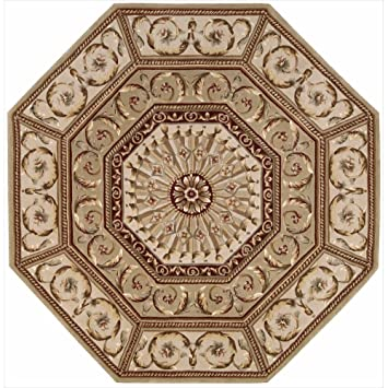 Nourison Versailles Palace (VP10) Sage Octagon Area Rug, 6 Feet By 6