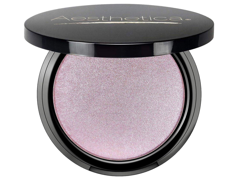 Aesthetica Starlite Highlighter - Metallic Shimmer Highlighting Makeup Powder - Lunar (Shimmering Lavender)