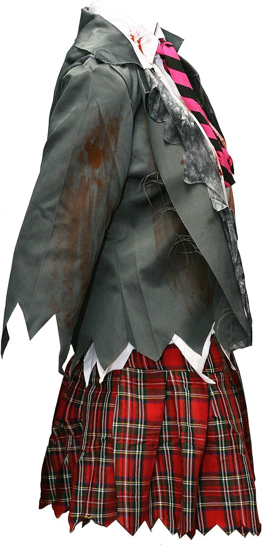 Bslingerie Women Zombie High School Uniform Skirt Costume Set