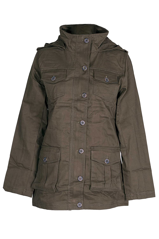 e7e13230a542 NOROZE Womens Hooded Military Style Summer Coat Jacket  Amazon.co.uk   Clothing