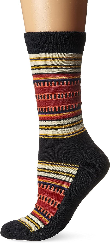 Pendleton Womens Socks 4 Pairs Wool Crew M 4-10 Blue Black Gray O10P