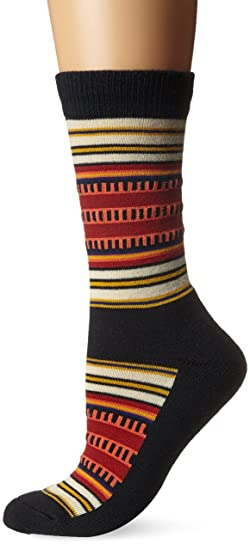 75a3f3532 Pendleton Women's National Park Cotton Crew Socks, Black, Sock Size:10-13