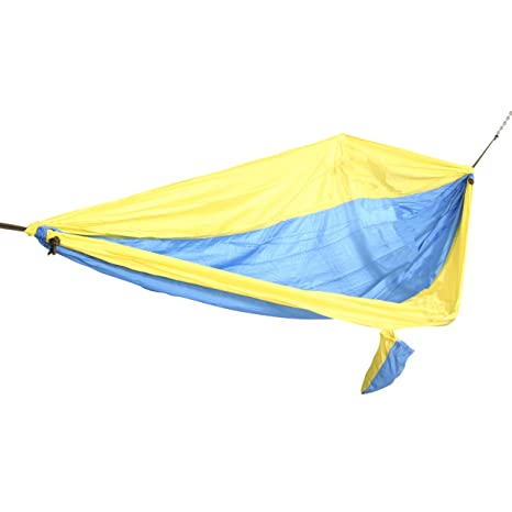 Medium image of castaway pa 7002 travel parachute hammock yellow and blue