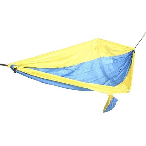 castaway pa 7002 travel parachute hammock yellow and blue amazon    castaway pa 7002 travel parachute hammock yellow and      rh   amazon