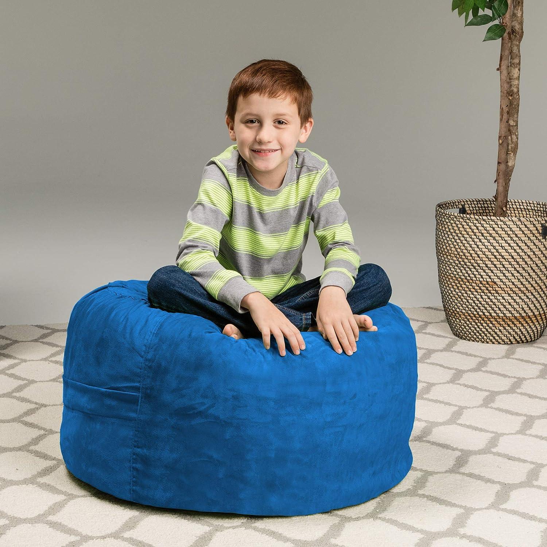 Big Sofa with Soft Micro Fiber Cover Large 2 Memory Foam Furniture Bean Bag Royal Blue Chill Sack Bean Bag Chair