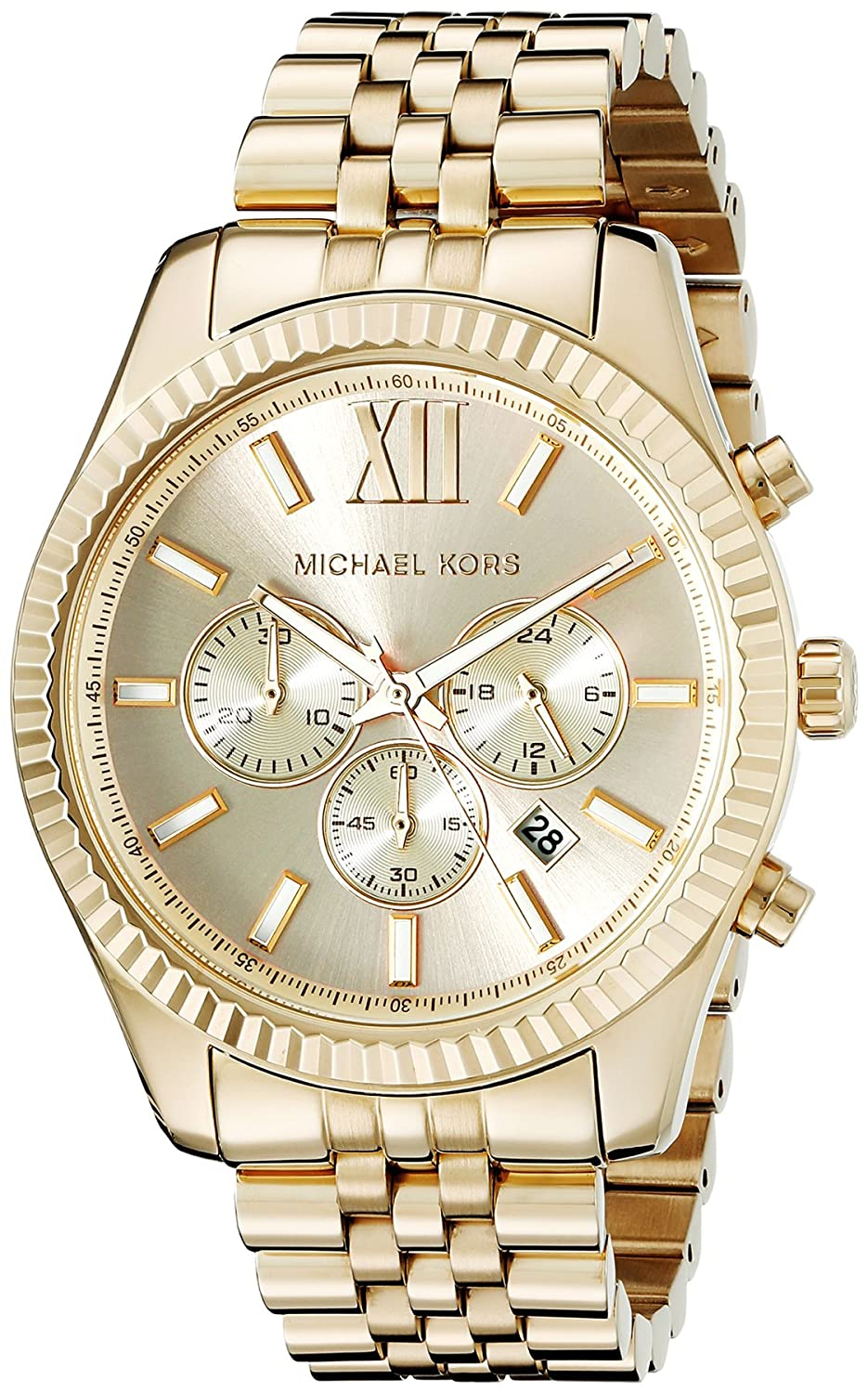 875f5b6fa299de Amazon.com: Michael Kors Lexington Gold-Tone Stainless Steel Watch MK8281: Michael  Kors: Watches