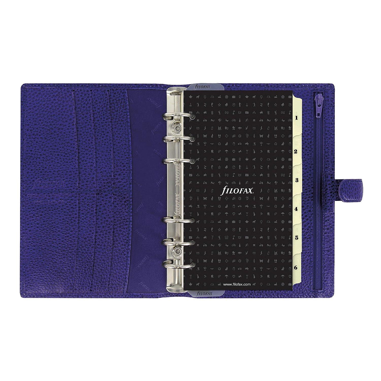 Filofax 2019 Personal Finsbury Organizer, Electric Blue, Paper Size 6.75 x 3.75 inches (C022499-19)
