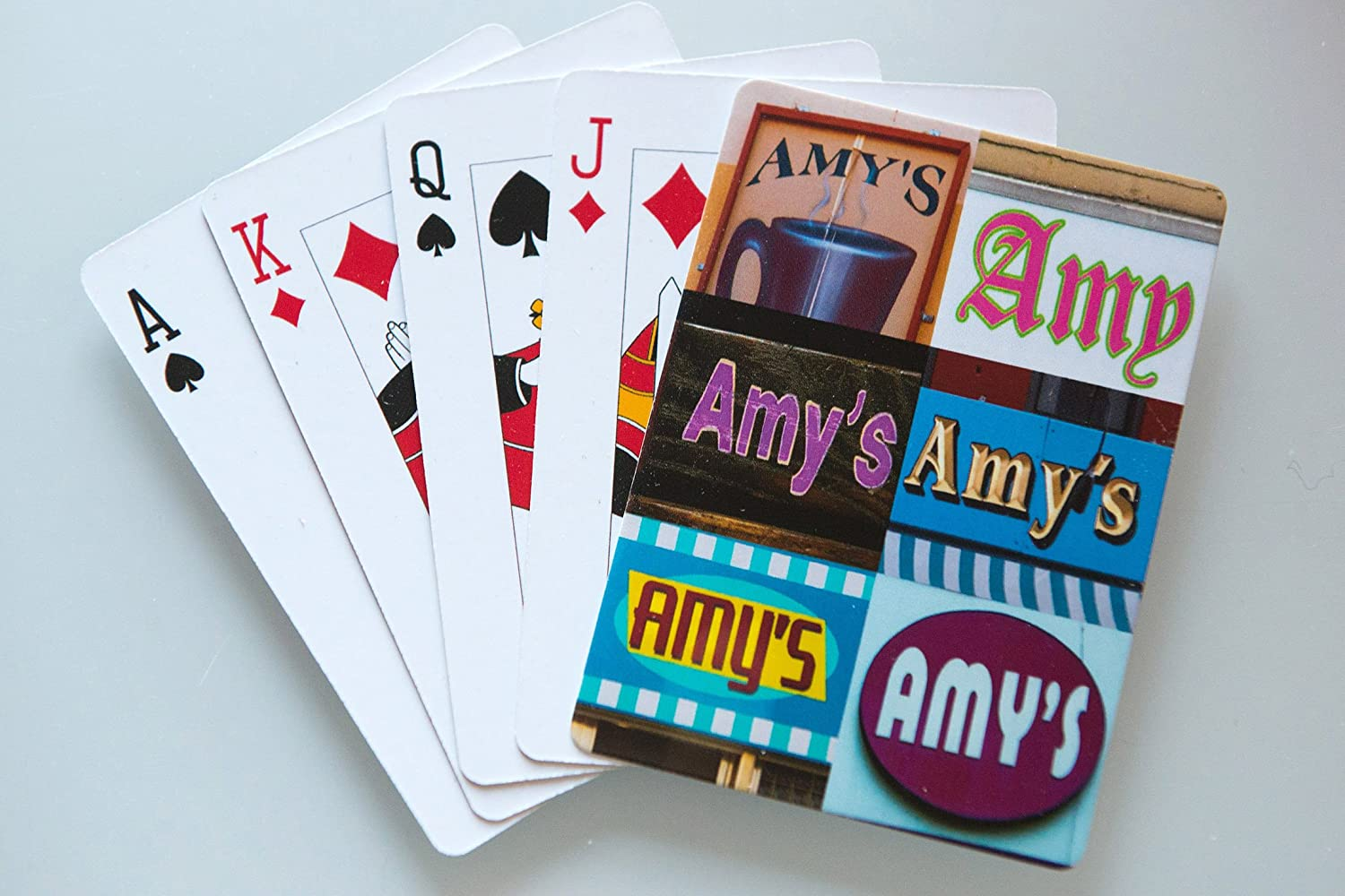 AMY Personalized Playing Cards featuring photos of actual signs SignYourName PC-AMYX