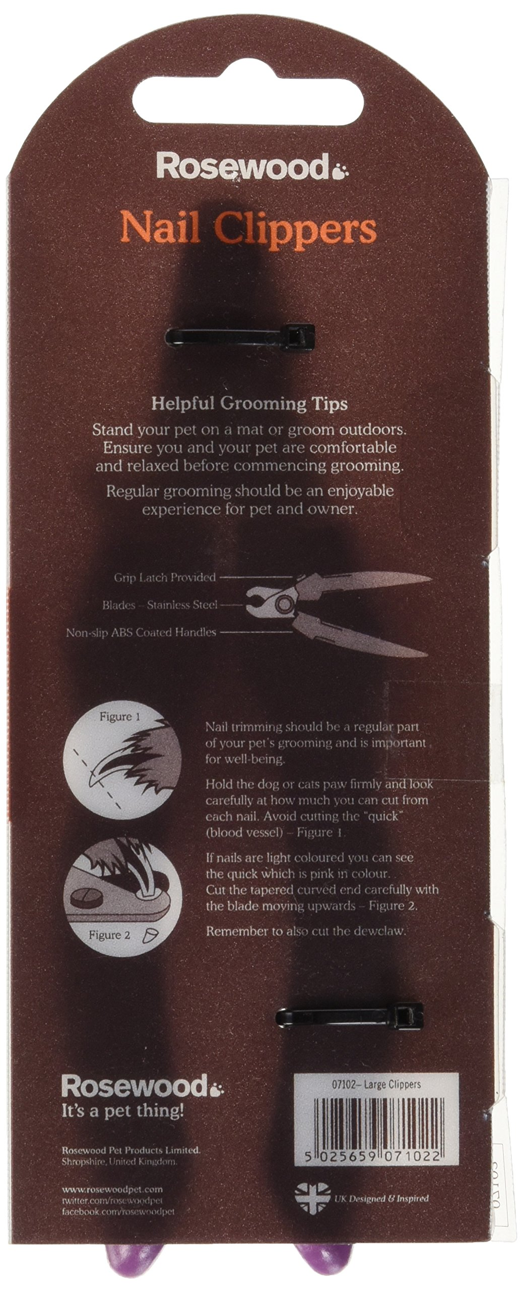 ROSEWOOD Soft Protection Salon Grooming Nail Clipper, Large