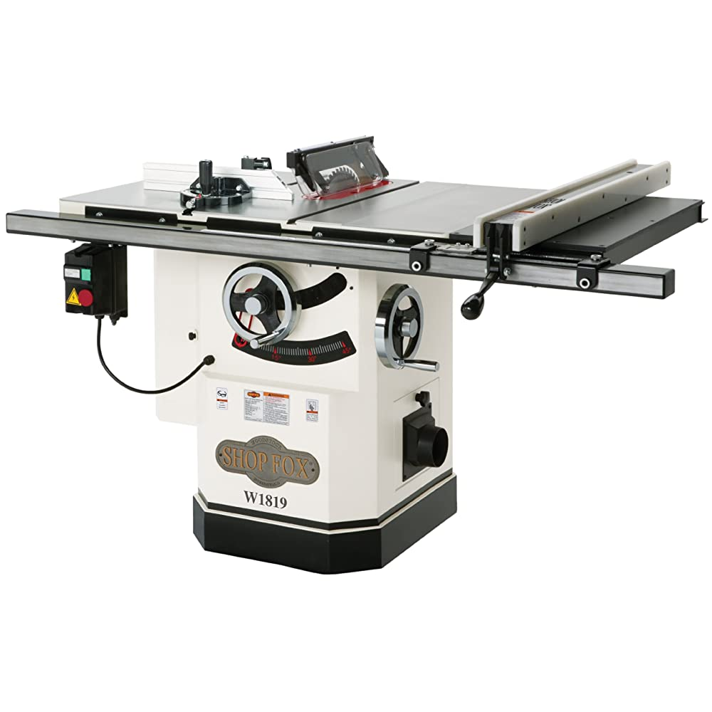 Shop Fox W1819 3 HP 10-Inch Table Saw with Riving Knife Review