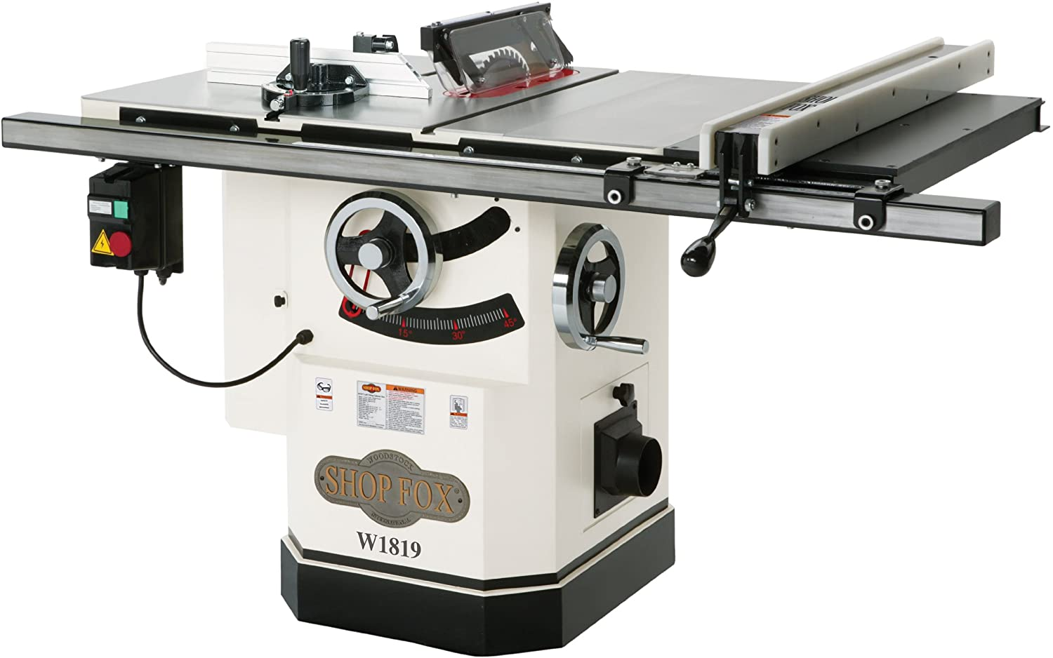 2. Shop Fox W1819 10-Inch Table Saw