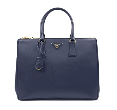 7888d42f58 Image Unavailable. Image not available for. Color: PRADA Saffiano Lux  Galleria Navy Blue Leather Ladies Tote 1BA786NZV