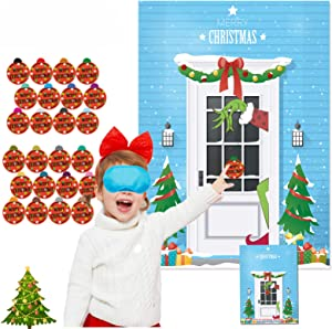 Pin the Grinch Christmas Game for Kids Grinch Party Decorations Christmas Grinch Game Xmas Activities Christmas Party Favors Grinch Christmas Decorations for Office Rooms New Year Party Favor Supplies