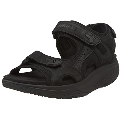 Skechers Womens 8 Shape Ups Black Fabric Toning Work Fitness Ease Shoe Anti Slip