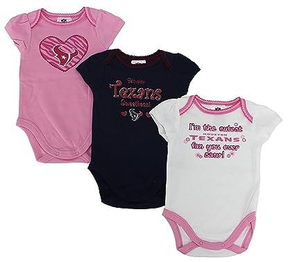 Image Unavailable. Image not available for. Color  Houston Texans NFL  Infant Girls 3-Pack Onesie Bodysuits ... d43e619cc