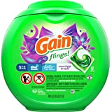 Gain flings! Laundry Detergent Liquid Pacs, Moonlight Breeze, 42 Count - Packaging May Vary