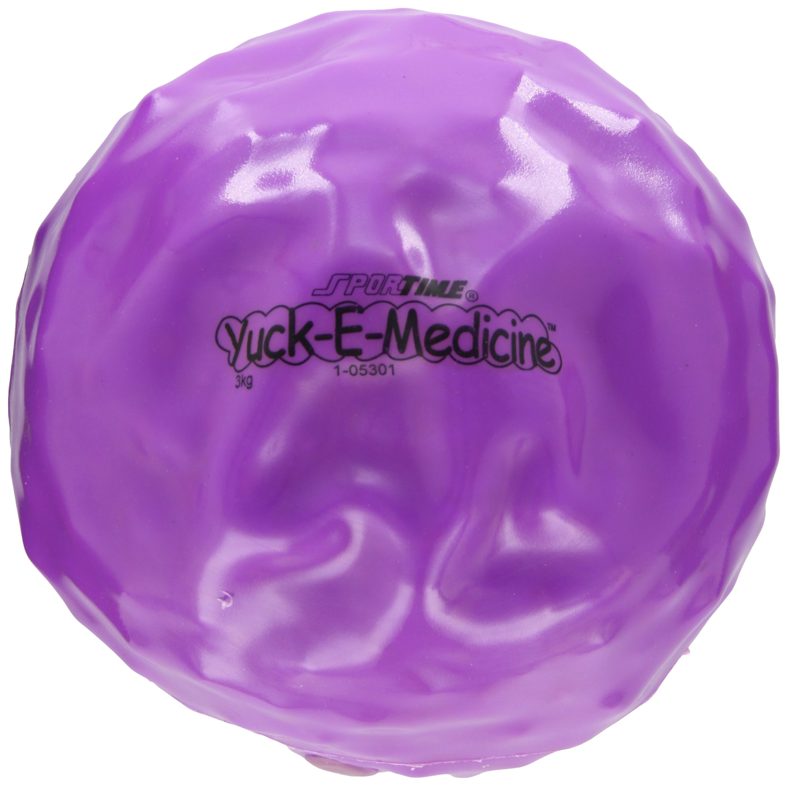 Sportime Yuck-E-Medicine Ball, 8 Inches, 6-3/5 Pounds, Violet